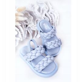 FR1 Sandale pentru copii cu cutie-plăcintă albastră cu nervuri albastru 4