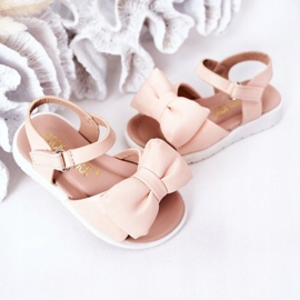FR1 Sandale pentru copii cu arc Bow Abbie roz 2