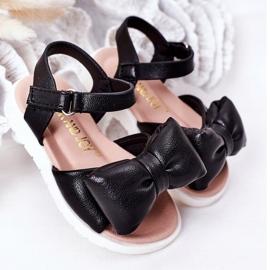 FR1 Sandale pentru copii cu arc Bow Abbie negru 3