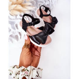 FR1 Sandale pentru copii cu arc Bow Abbie negru 4