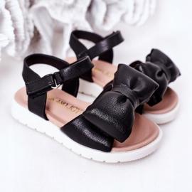 FR1 Sandale pentru copii cu arc Bow Abbie negru 2
