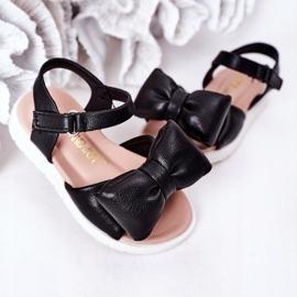 FR1 Sandale pentru copii cu arc Bow Abbie negru 5