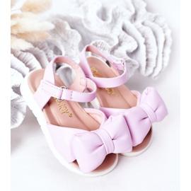 FR1 Sandale pentru copii cu arc Violet Abbie 1