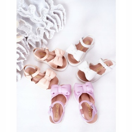 FR1 Sandale pentru copii cu un arc Abbie alb 1