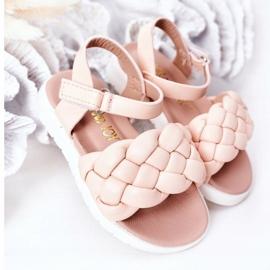 FR1 Sandale pentru copii cu Adella roz împletit 7