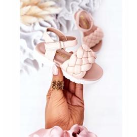 FR1 Sandale pentru copii cu Adella roz împletit 8
