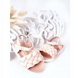 FR1 Sandale pentru copii cu Adella roz împletit 9