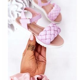 FR1 Sandale pentru copii cu Adella violet împletit 3