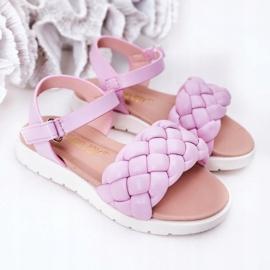 FR1 Sandale pentru copii cu Adella violet împletit 1
