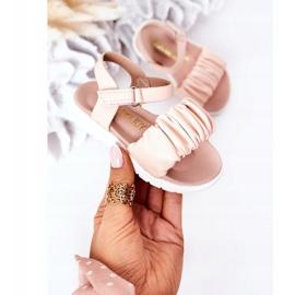 FR1 Sandale pentru copii cu velcro roz Aimy 3