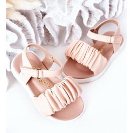 FR1 Sandale pentru copii cu velcro roz Aimy 4