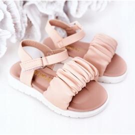 FR1 Sandale pentru copii cu velcro roz Aimy 5