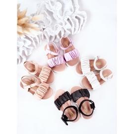 FR1 Sandale negre pentru copii, cu velcro negru 5