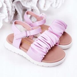 FR1 Sandale pentru copii cu Velcro Violet Aimy 5