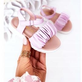 FR1 Sandale pentru copii cu Velcro Violet Aimy 3
