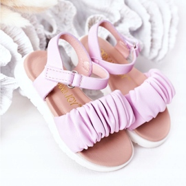 FR1 Sandale pentru copii cu Velcro Violet Aimy 2