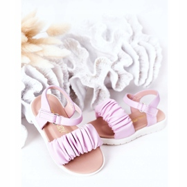 FR1 Sandale pentru copii cu Velcro Violet Aimy 4