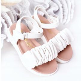 FR1 Sandale pentru copii cu velcro alb Aimy 2