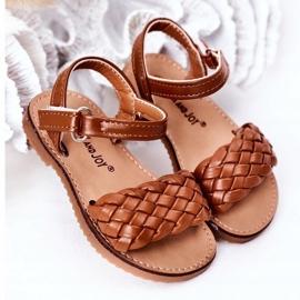 FR1 Sandale pentru copii cu cămilă împletită Bailly maro 2