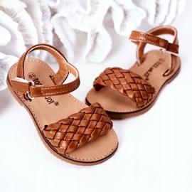 FR1 Sandale pentru copii cu cămilă împletită Bailly maro 4