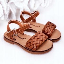 FR1 Sandale pentru copii cu cămilă împletită Bailly maro 5