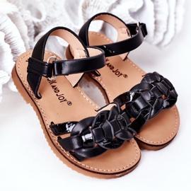 FR1 Sandale pentru copii cu model de șarpe Black Baxlee negru 2