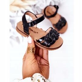 FR1 Sandale pentru copii cu model de șarpe Black Baxlee negru 3