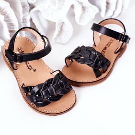 FR1 Sandale pentru copii cu model de șarpe Black Baxlee negru 4