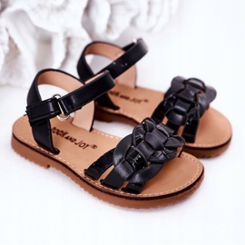 FR1 Sandale pentru copii cu model de șarpe Black Baxlee negru 5