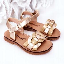 FR1 Sandale pentru copii cu model de șarpe Golden Baxlee de aur 5