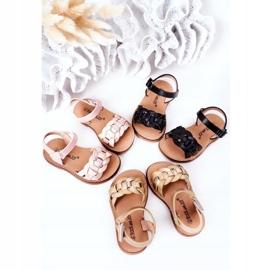 FR1 Sandale pentru copii cu model de șarpe Golden Baxlee de aur 1