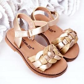 FR1 Sandale pentru copii cu model de șarpe Golden Baxlee de aur 3
