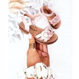 FR1 Sandale pentru copii cu model șarpe roz Baxlee 3