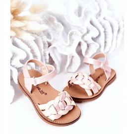 FR1 Sandale pentru copii cu model șarpe roz Baxlee 4