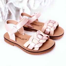 FR1 Sandale pentru copii cu model șarpe roz Baxlee 5