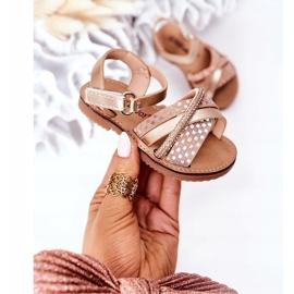 FR1 Sandale pentru copii cu paiete Golden Becky de aur 4