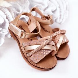 FR1 Sandale pentru copii cu paiete Golden Becky de aur 2