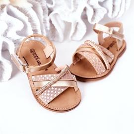 FR1 Sandale pentru copii cu paiete Golden Becky de aur 3