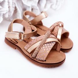 FR1 Sandale pentru copii cu paiete Golden Becky de aur 1