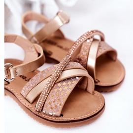 FR1 Sandale pentru copii cu paiete Golden Becky de aur 5