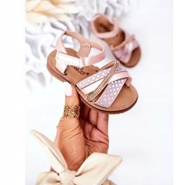FR1 Sandale pentru copii cu paiete roz Becky 3