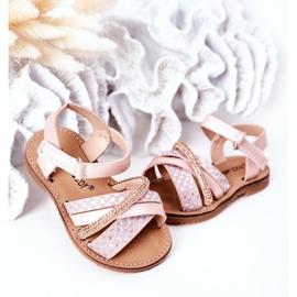 FR1 Sandale pentru copii cu paiete roz Becky 4
