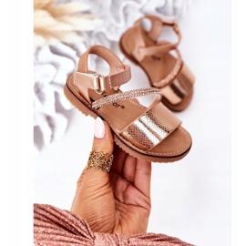 FR1 Sandale pentru copii cu paiete Rose Gold Blake de aur 2