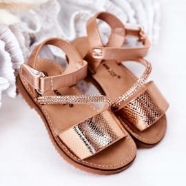 FR1 Sandale pentru copii cu paiete Rose Gold Blake de aur 1