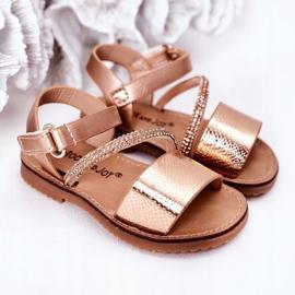FR1 Sandale pentru copii cu paiete Rose Gold Blake de aur 4