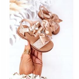 FR1 Sandale pentru copii cu arc Beebee de aur 2