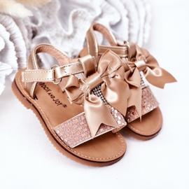 FR1 Sandale pentru copii cu arc Beebee de aur 1