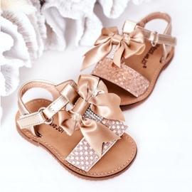 FR1 Sandale pentru copii cu arc Beebee de aur 3