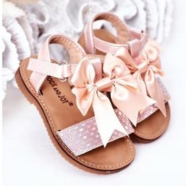 FR1 Sandale pentru copii cu arc Bow Beebee roz 1