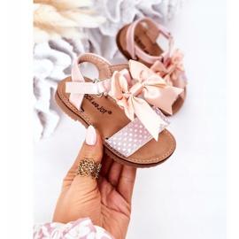 FR1 Sandale pentru copii cu arc Bow Beebee roz 2